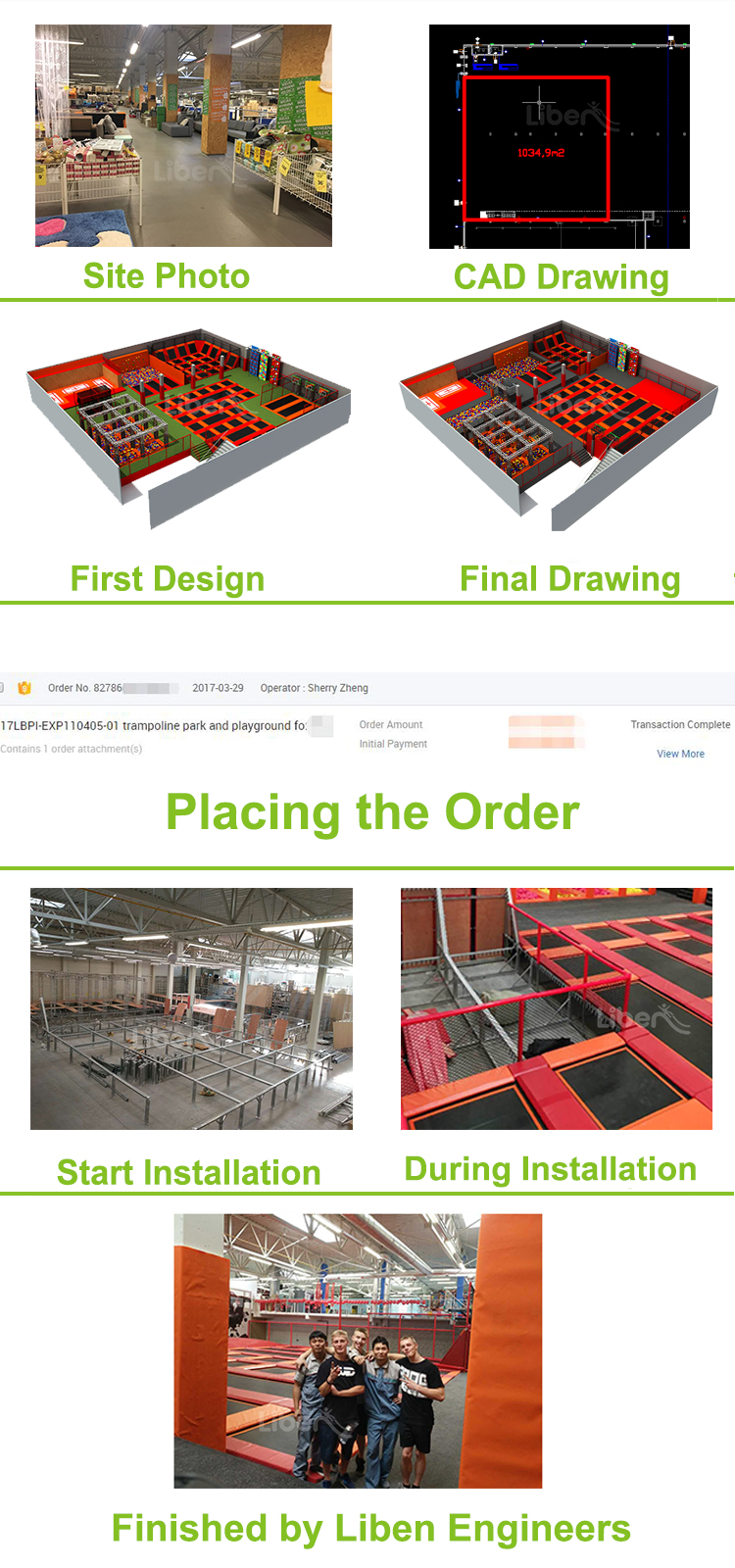 How to order a Trampoline Park