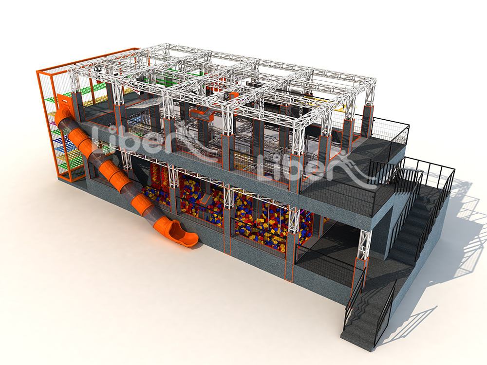 Ninja Course Double Floor 3D Design Drawing