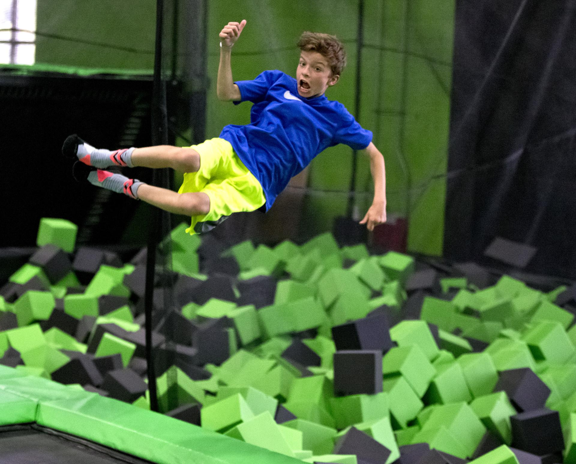 Former Patriot Ty Law in business with a bounce Indoor Trampoline park
