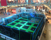 Indoor trampoline park for shopping mall