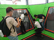 TUV Video Shooting&Inspection on Liben Trampoline Park
