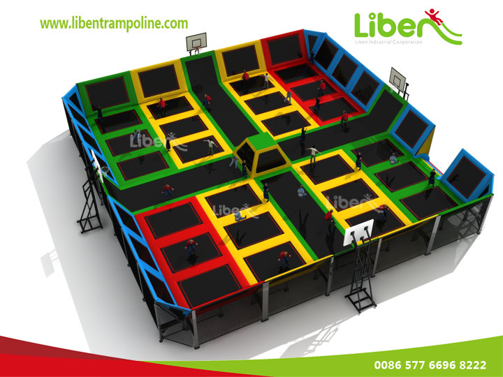 The Customization of Indoor Large Trampoline Theme Park