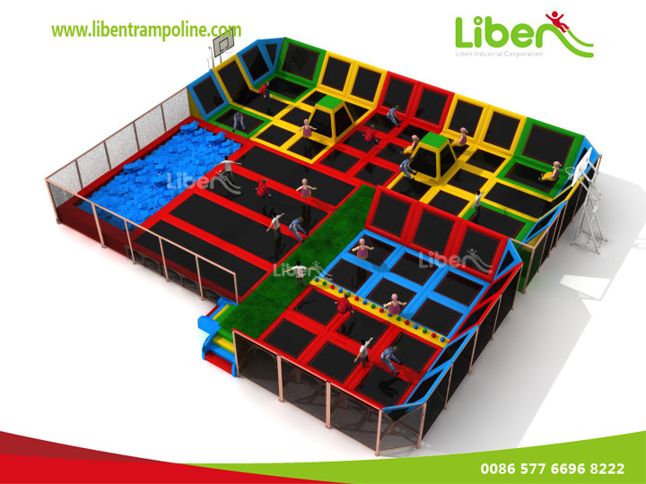 China Indoor Trampoline With Attractive Designs