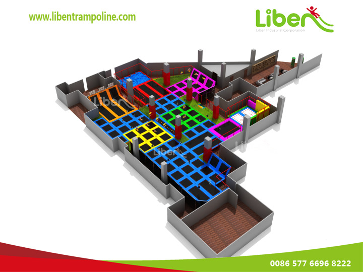 2014 New Design Used Indoor Children Trampoline Center