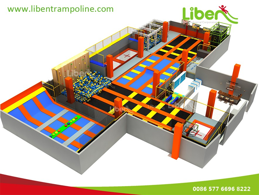 2016 New Colourful Indoor Trampoline Park For Children