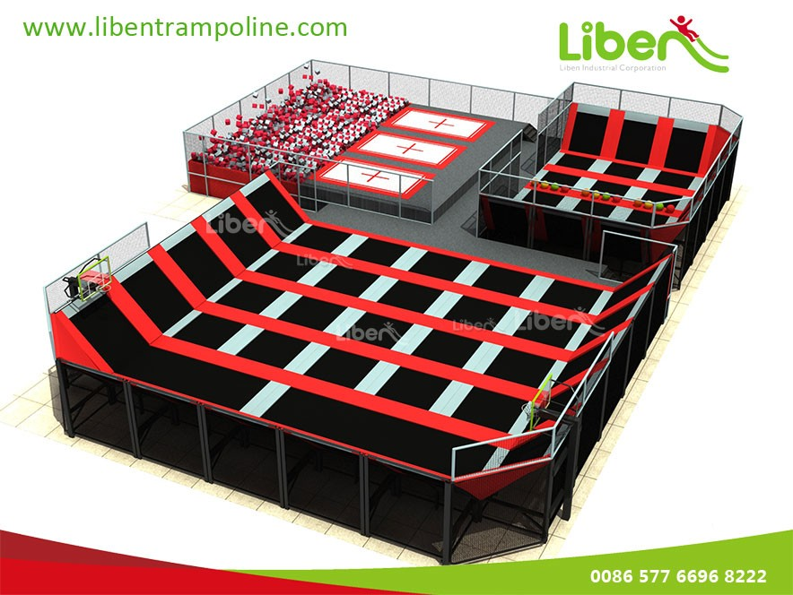 ASTM Quality Air Jump Big Bouncy Jumperoo Trampoline Park Arena