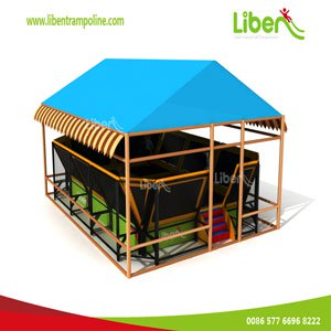 Trampoline with tent