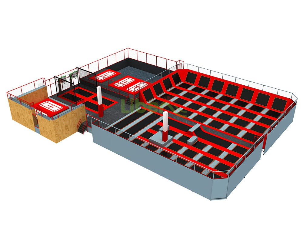 Liben High Quality Standard Professional  Indoor Trampoline Park In Finland