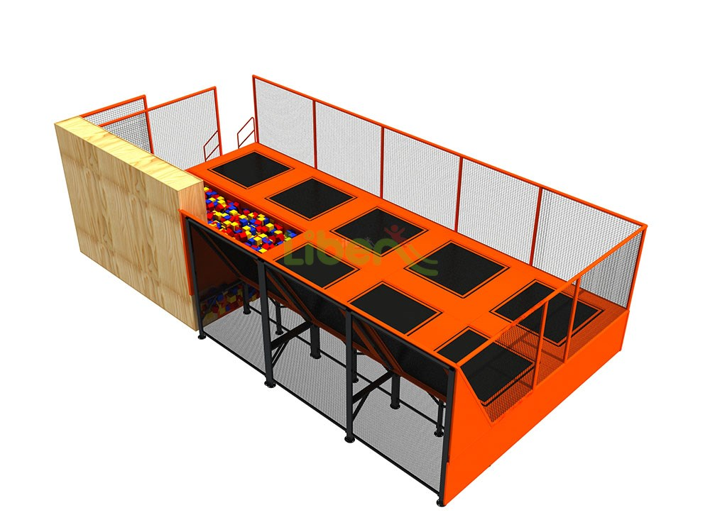ASTM High Quality Large Liben Professional Indoor Trampoline Park In Chile