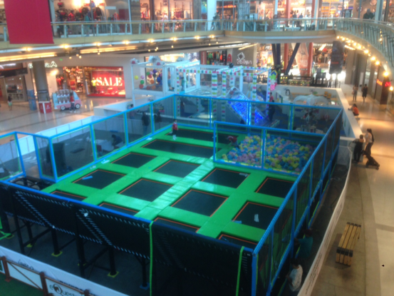 trampoline for shopping mall