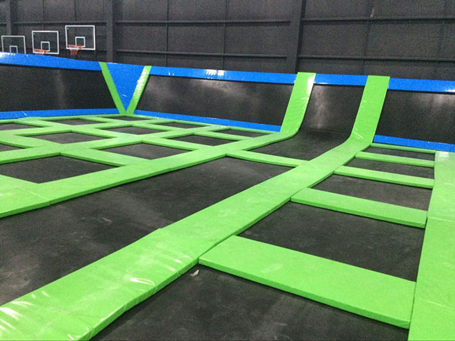Real picture of exercise trampoline