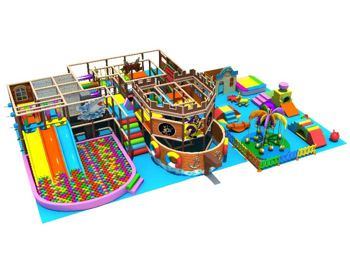 Pirate Themed Indoor Play Structure
