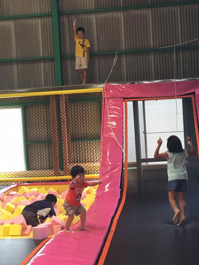 Real Pictures of Indoor trampoline park in Japan