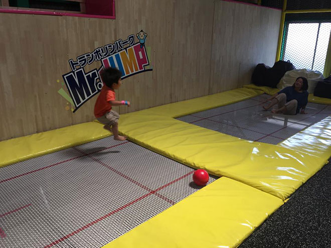 Indoor trampoline Park with professional trampoline