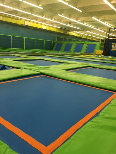 Indoor trampoline park in USA