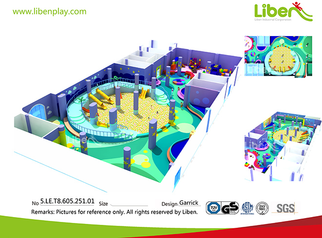 Indoor big ball pit design